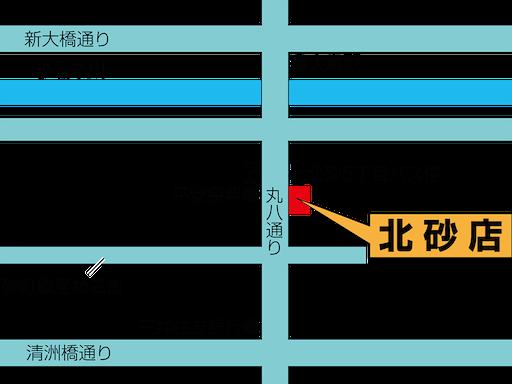 セオサイクル北砂店 店舗地図