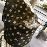 雨で活躍するカゴカバー